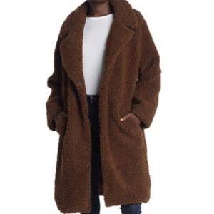 Lucky brand faux fur shearling teddy jacket coat